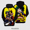 Moletom Midoriya vs Bakugou Boku No Hero Estampa Total Frente e Costas - comprar online