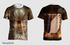 CAMISA FULL ESTAMPA ATTACK ON TITAN FRENTE E COSTAS