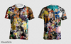 Camisa Animes Mix Estampa Total Frente e Costas - comprar online