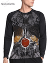 Camisa Manga Longa Raglan Death Note Estampa Total