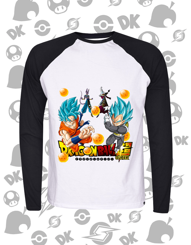 Camisa Goku, Vegeta e bills