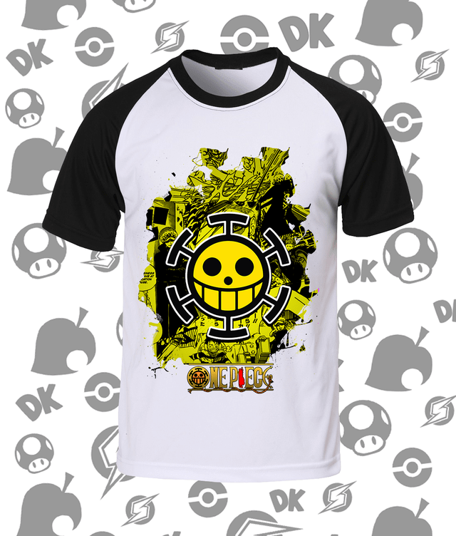 Camisa Raglan One Piece Trafalgar Law A3