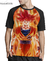 Camisa Raglan Goku Super Saiyajin God Estampa Total Frente