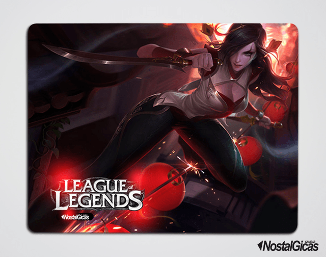 MOUSE PAD Katarina Reinos Combatentes LEAGUE OF LEGENDS
