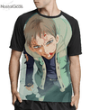 Camisa Raglan King Nanatsu no Taizai Estampa Total Frente