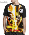 Camisa Raglan One Punch Man Estampa Total Frente
