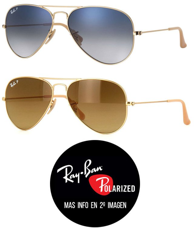 Ray Ban RB3025 Aviator Degrade Polarizados
