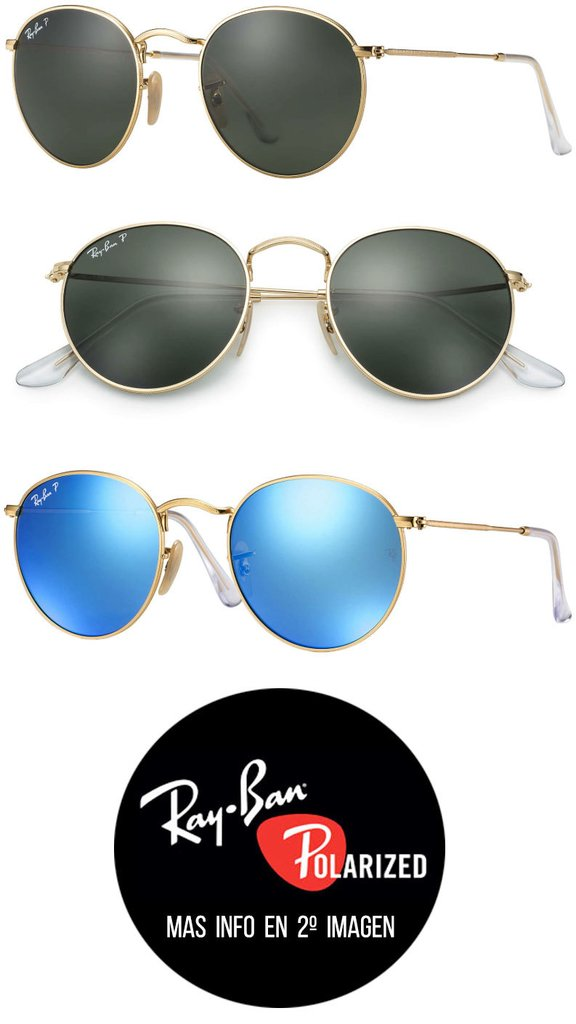 facec8c07 Ray Ban RB3447 Round Metal Polarizados - Tienda Icons