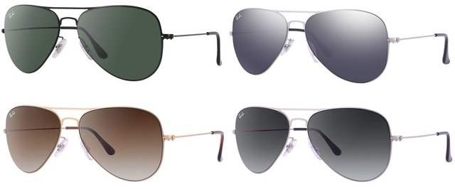 Ray Ban RB3513 Aviator Flat Metal