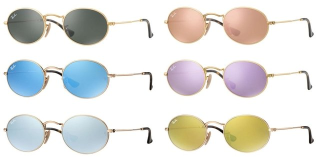 Ray Ban RB3547 Round Oval