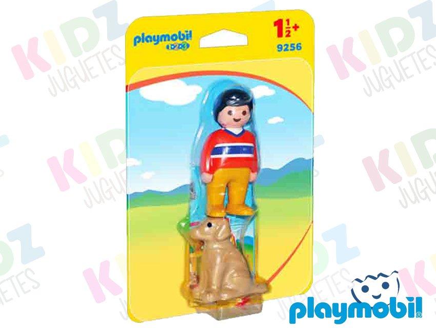 3 2 Juguetes Kidz Playmobil 1 Hombre Con Perro edCxBo
