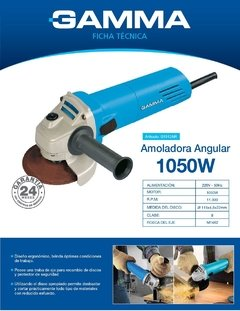 Amoladora Angular 1.050w 11.000 Rpm 115mm Gamma en internet