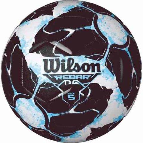 Bola De Futebol De Campo Rebar Ng N.5 Azul preto Wilson d55e64901bd71