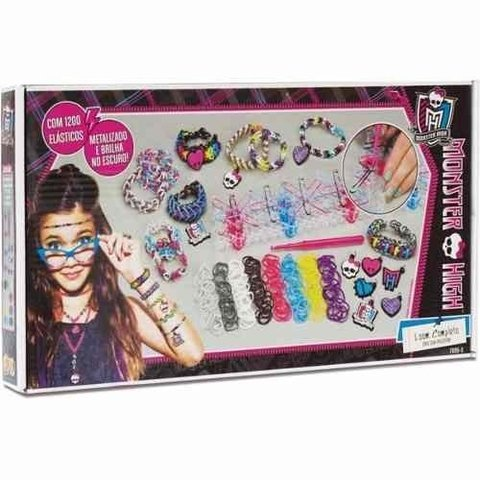 Bijuteria E Miçanga Monster High Loom Completo  -  Fun