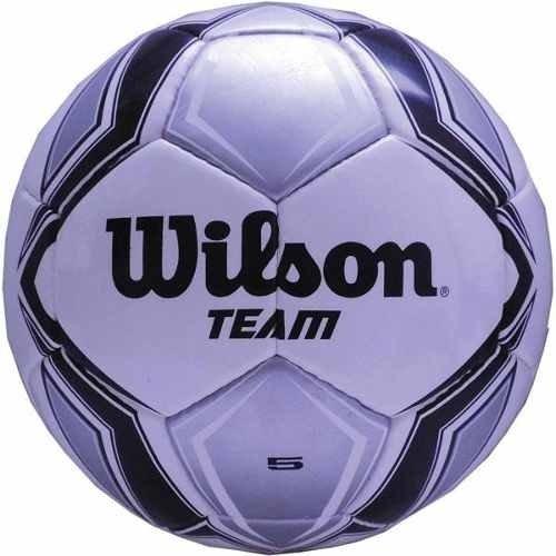 b80290b431c27 Bola De Futebol De Campo Team New N.5 Prata preta Wilson