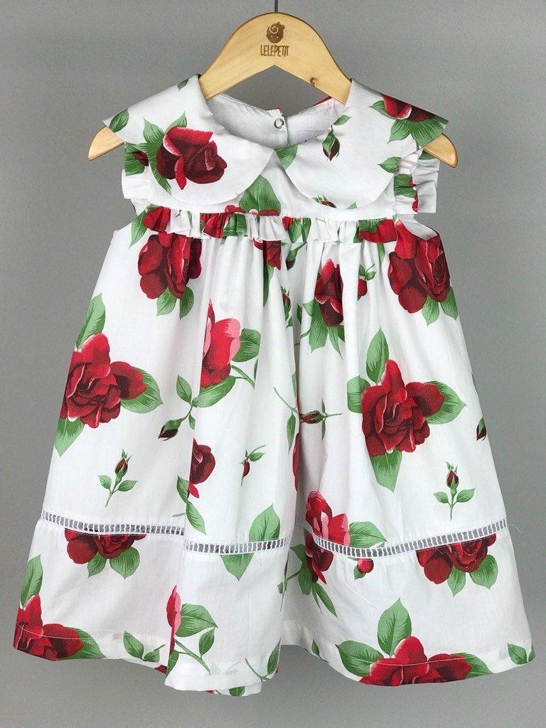 23e187317d Vestido Valentina - Floral Vermelho - LELE PETIT