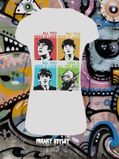 REMERA ALL YOU NEED IS YODA (BEATLES, STAR WARS) en internet