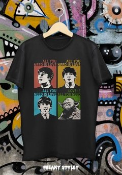 REMERA ALL YOU NEED IS YODA (BEATLES, STAR WARS) - tienda online