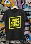 REMERA STAR WARS HAN SHOT FIRST 1