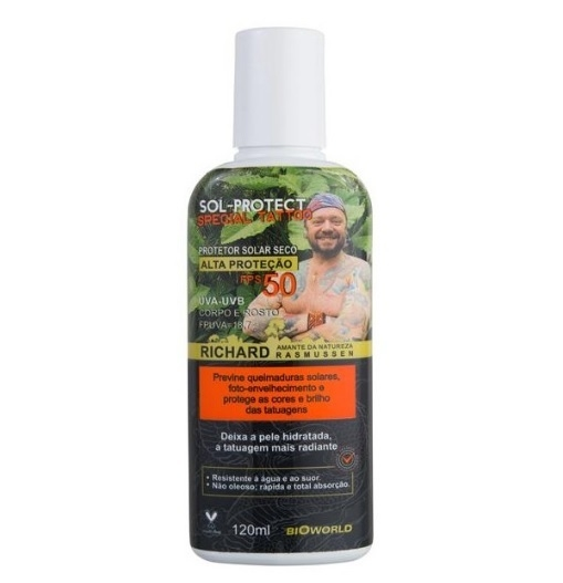 SOL PROTECT FPS 50 SPECIAL TATTOO por Richard Rasmussen - 120ml