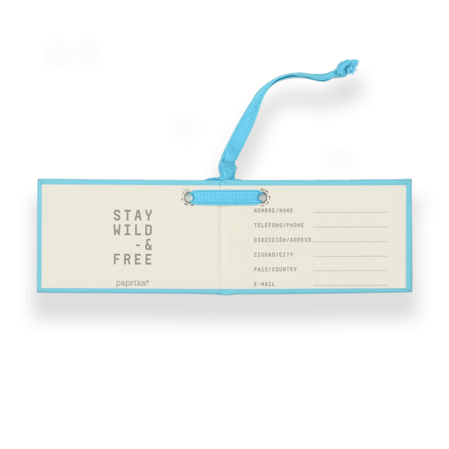 TRAVEL TAG - CARTON CELESTE - comprar online