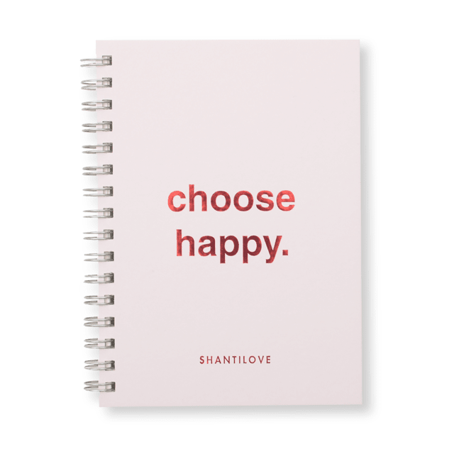 CUADERNO CHOOSE HAPPY RAYADO + BAG SHANTILOVE - tienda online