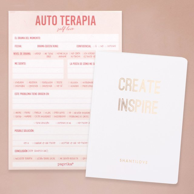 NOTEPAD AUTO TERAPIA + DIARIO CREATE