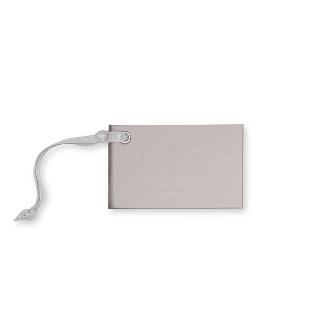 TRAVEL TAG - CARTON GRIS