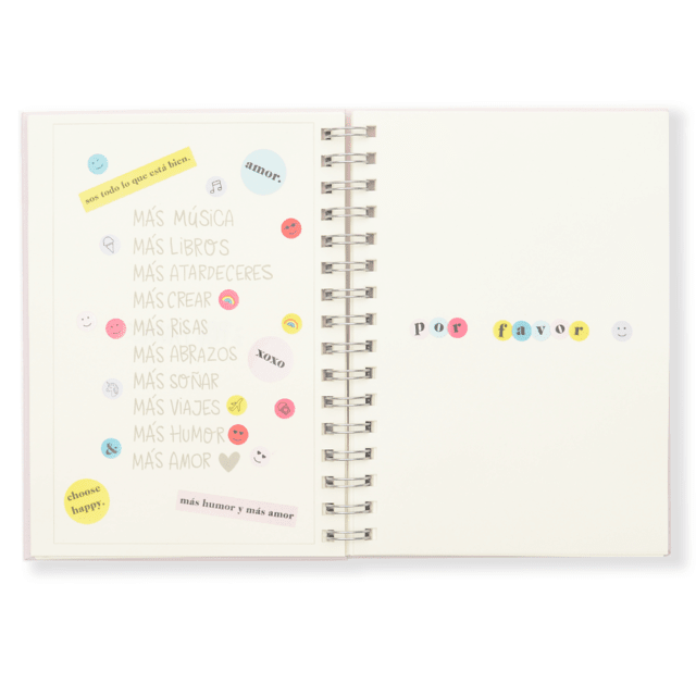CUADERNO CHOOSE HAPPY LISO + BAG SHANTILOVE - comprar online