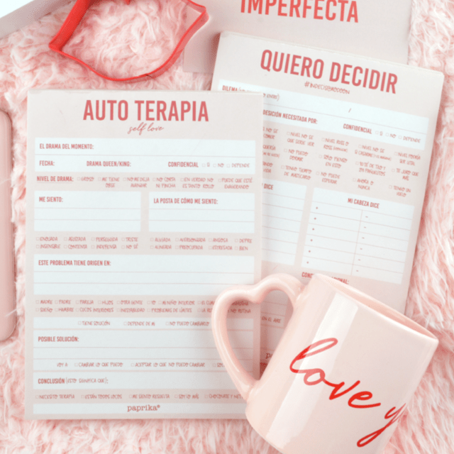 SELF LOVE KIT (Notepad Quiero decidir + Notepad Autoterapia) - comprar online
