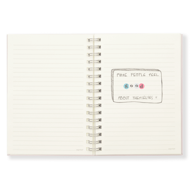 CUADERNO CHOOSE HAPPY RAYADO + BAG SHANTILOVE - comprar online