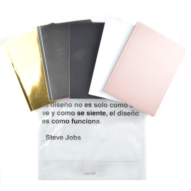 DESIGNER´S KIT MINI  (CUADERNO HOME LISO + BAG STEVE )