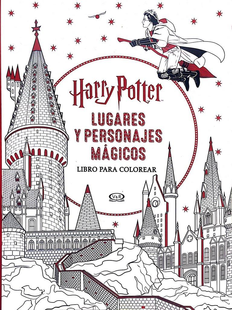 Harry Potter Lugares Y Personajes Mágicos Libro Para Colorear