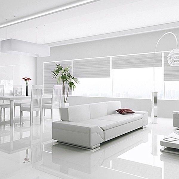Porcelanato Piso Brillante Pulido Blanco 60x60 Rectificado