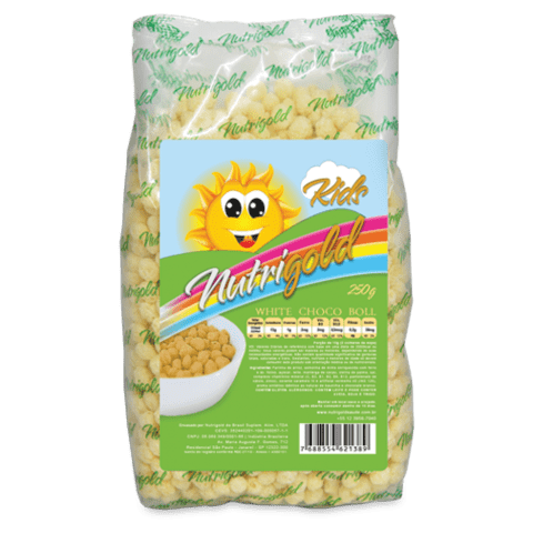White Choco Boll KIDS – Cereal Matinal sabor Chocolate Branco Pack PL 250g - comprar online