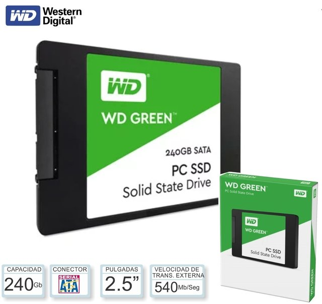 DISCO INTERNO WD SSD 240 GB GREEN - comprar online