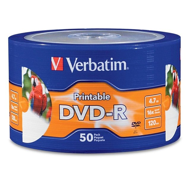 Dvd Virgen Printable Verbatim Dvd-r 4.7gb 16x 120min Pack 50