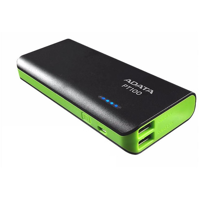 Power Bank Adata 10000 Mah Cargador Portatil Pt100 Negro