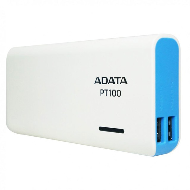 Power Bank Adata 10000 Mah Cargador Portatil Pt100 Blanco