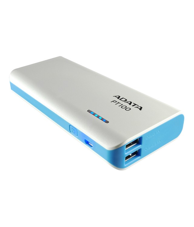 Power Bank Adata 10000 Mah Cargador Portatil Pt100 Blanco - comprar online