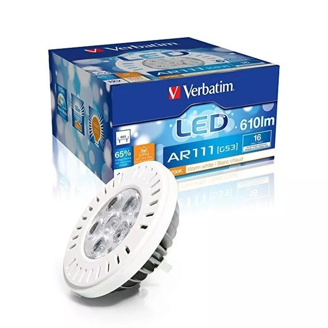 Lampara Led Verbatim Ar111 12v Equivalente 50w Calida 52018