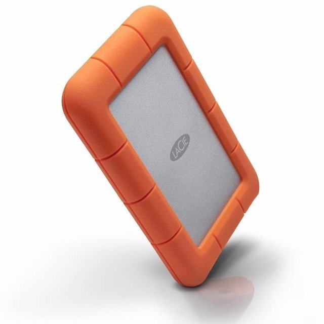 Disco externo LaCie Rugged USB-C de 1 TB