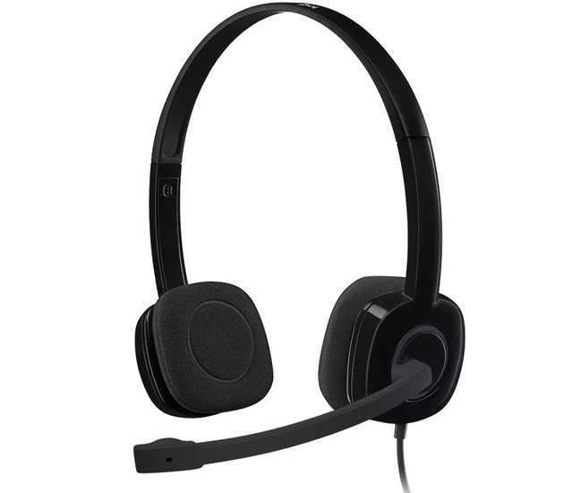 Auriculares Con Microfono Headset Logitech H 151 Ideal Skype
