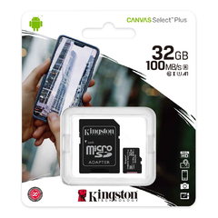 TARJETA MEMORIA KINGSTON 32GB MICRO SDCS2 CANVAS SELECT PLUS en internet