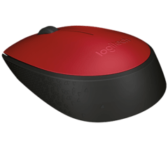Mouse Inalambrico Logitech M170 Rojo Optico en internet