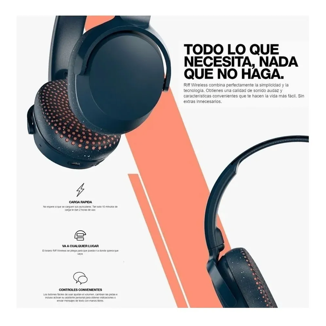 Auriculares Skullcandy Riff Wireless S5pxw-l673 Gray C - FsComputers