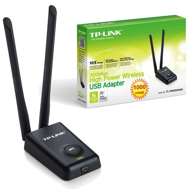 Placa De Red Usb Wifi Tp-link 8200nd 300mbp Largo Alcance - comprar online