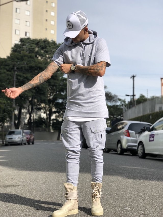 CALÇA GRAY POCKET