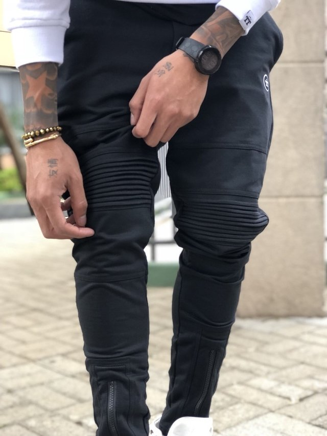 CALÇA ZIPPER BLACK