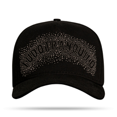BONÉ TRUCKER LETTER BRIGHT BLACK